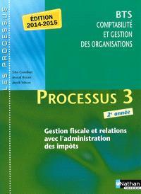 Processus 3 : gestion fiscale et relations avec l'administration des impôts : BTS CGO 2e année