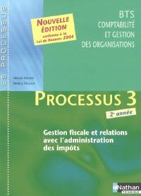 Processus 3 : gestion fiscale et relations avec l'administration des impôts : BTS CGO, 2e année