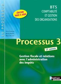 Processus 3 : gestion fiscale et relations avec l'administration des impôts : BTS comptabilité et gestion des organisations 2e année
