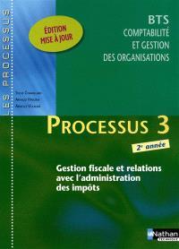 Processus 3 : gestion fiscale et relations avec l'administration des impôts : BTS comptabilité et gestion des organisations, 2e année