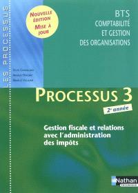 Processus 3, gestion fiscale et relations avec l'administration des impôts : BTS CGO 2e année