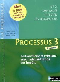 Processus 3, gestion fiscale et relations avec l'administration des impôts : BTS CGO, 2e année