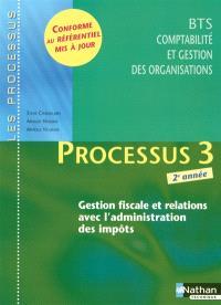 Processus 3, gestion fiscale et relations avec l'administration des impôts, BTS 2