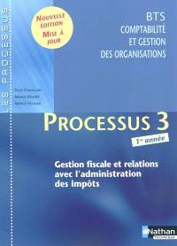 Processus 3, gestion fiscale et relations avec l'administration des impôts, BTS CGO 1re année