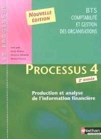 Processus 4 : production et analyse de l'information financière, BTS CGO 2e année