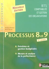 Processus 8 et 9 : prévision et gestion budgétaire, mesure et analyse de la performance, BTS CGO 2e année