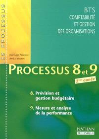 Processus 8 et 9 : prévision et gestion budgétaire, mesure et analyse de la performance, BTS CGO 2ème année