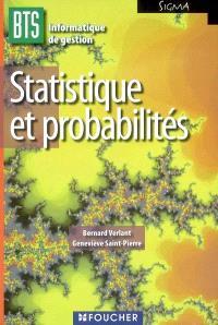 Statistique et probabilités, BTS informatique de gestion options développeur d'applications et administrateur de réseaux locaux d'entreprise
