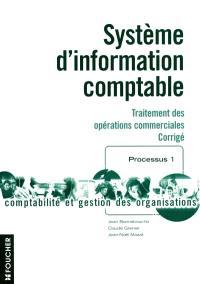 Système d'information comptable : traitement des opérations commmerciales : corrigés