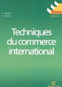 Techniques du commerce international
