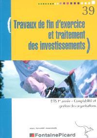 Travaux de fin d'exercice et traitement des investissements, BTS 1re année Comptabilité et gestion des organisations