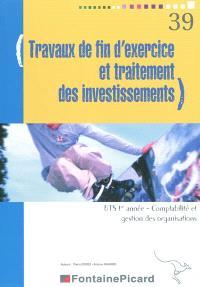 Travaux de fin d'exercice et traitement des investissements, BTS CGO 1re année