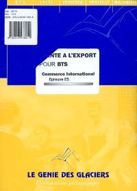 Vente à l'export pour BTS commerce international : épreuve 5
