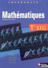 Mathématiques 1re STG : programme 2005