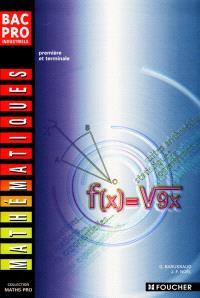 Mathématiques, bac pro industriels : première et terminale