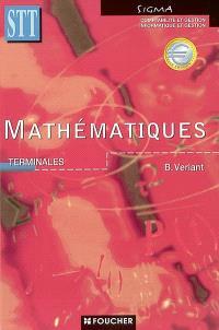 Mathématiques, terminale STT : comptabilité et gestion, informatique et gestion