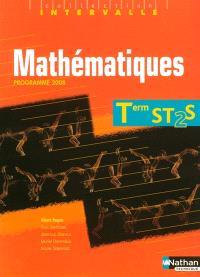 Mathématiques, terminales ST2S : manuel de l'élève