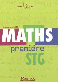 Maths première STG : programme 2005