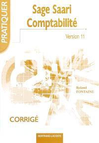 Sage comptabilité 100 (version 11) : corrigé