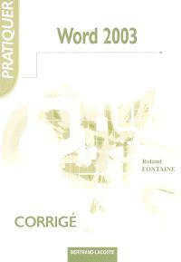Word 2003 : corrigé