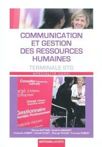 Communication et gestion des ressources humaines, terminale STG spécialité CGRH