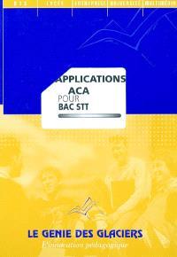 Applications ACA pour bac STT : pochette de l'élève