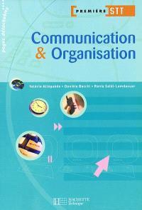 Communication et organisation 1re STT