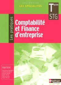 Comptabilité et finance d'entreprise, terminale STG : le livre détachable de l'élève