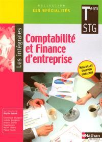 Comptabilité et finance d'entreprise, terminale STG : livre détachable de l'élève