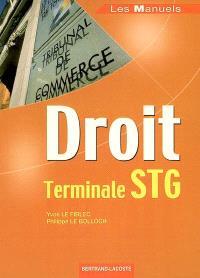 Droit terminale STG