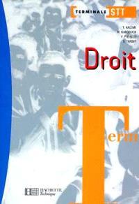 Droit terminale STT
