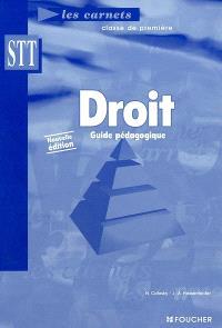 Droit, classe de première STT : guide pédagogique