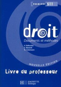 Droit, première STT : livre du professeur