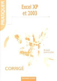 Excel XP et 2003 : corrigé