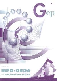 Info-orga, 1re information-communication, première STG