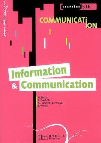 Information & communication, première STG communication