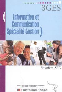 Information et communication spécialité gestion, première STG