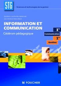 Information et communication STG première communication et gestion : cédérom pédagogique