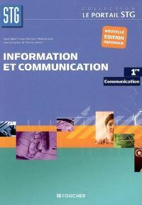 Information et communication, 1re communication