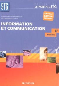 Information et communication, gestion 1re