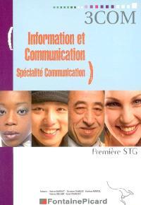 Information et communication, spécialité communication, première STG