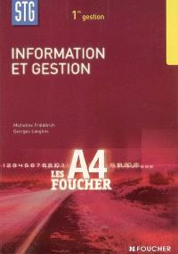 Information et gestion 1re STG gestion