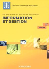 Information et gestion, 1re gestion sciences et technologies de la gestion