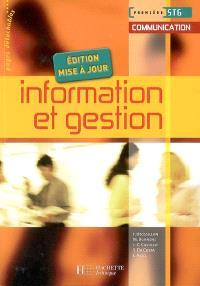 Information et gestion, première STG communication