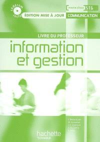 Information et gestion, première STG communication : livre du professeur