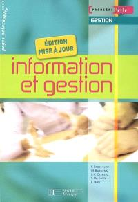 Information et gestion, première STG gestion