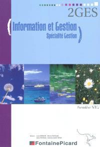 Information et gestion, spécialité gestion : première STG