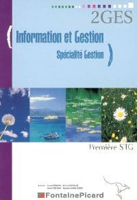 Information et gestion, spécialité gestion, première STG