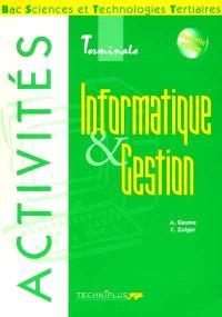 Informatique et gestion, activités, bac STT terminale IG