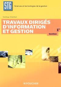 Travaux dirigés information et gestion 1re gestion sciences et technologies de la gestion